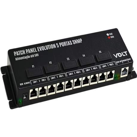 Patch Panel 5 Portas Giga Snmp Evolution Volt 1202021 (12v A 56v)