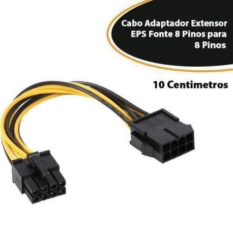 Cabo Adaptador Ext. Eps Fonte 8 Pinos P/8 Pinos Empire 4434 Atx-10 Cm