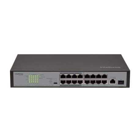 Hub Switch 16 Portas Fast Poe C/1p Gigabit e 1p Intelbras-rf 4760038 Sfp Sf 1811 Poe