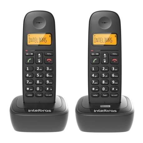Telefone S/fio Ts 2512 Preto 4122512 Intelbras