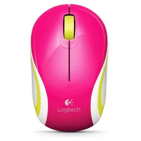 Mini Mouse Usb S/fio Nano M187 Rosa Logitech